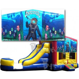 (C) Aquatic Adventure Bounce Slide combo (Wet or Dry)