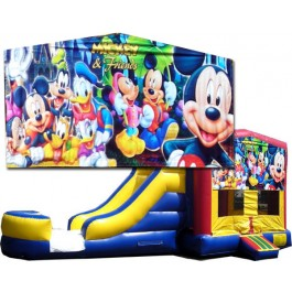 (C) Mickey & Friends Bounce Slide combo (Wet or Dry)