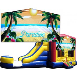 (C) Paradise Bounce Slide combo (Wet or Dry)