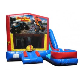 (C) Monster Truck 7N1 Bounce Slide combo (Wet or Dry)