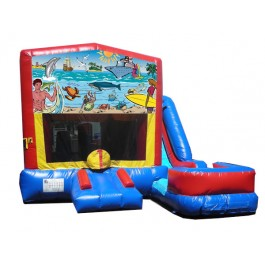 (C) Seaside 7n1 Bounce Slide combo (Wet or Dry)