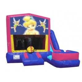 (C) Tinkerbell 7N1 Bounce Slide combo (Wet or Dry)