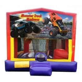 (C) Monster Truck 5N1 Bounce Slide combo (Wet or Dry)