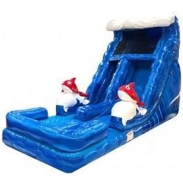 (B) 18ft Ragin Cajun Dry Slide