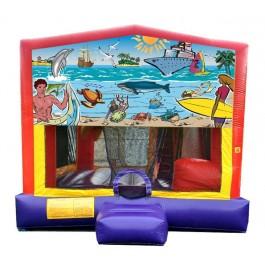 (C) Seaside 5n1 Bounce Slide combo (Wet or Dry)