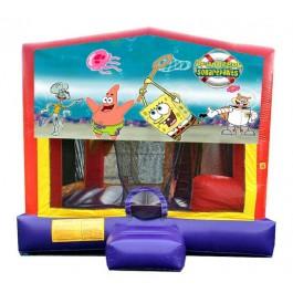 (C) Sponge Bob 5N1 Bounce Slide combo (Wet or Dry)