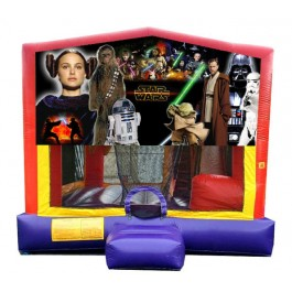 (C) Star Wars 5N1 Bounce Slide combo (Wet or Dry)