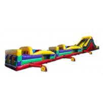 (C) 95ft Dry Mega Obstacle Course w/16ft slide