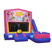 (C) Happy Birthday Girl 7n1 Bounce Slide combo (Wet or Dry)
