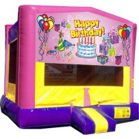 (C) Happy Birthday Girl Bounce House
