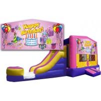 (C) Happy Birthday Girl 2 Lane combo (Wet or Dry)