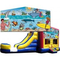 (C) Seaside Bounce Slide combo (Wet or Dry)