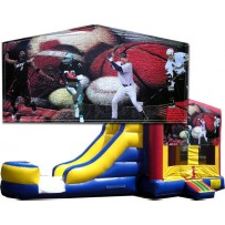 (C) Sports Banner Bounce Slide combo (Wet or Dry)