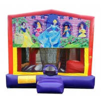 (C) Disney Princess 5N1 Bounce Slide combo (Wet or Dry)