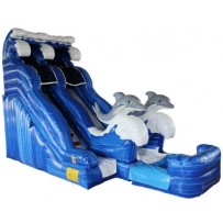 (B) 18ft Dolphin Water Slide
