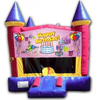 (C) Happy Birthday Girl Castle Bounce House
