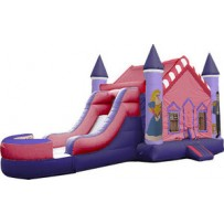 (B)  Princess Castle Bounce Slide combo (Wet or Dry)